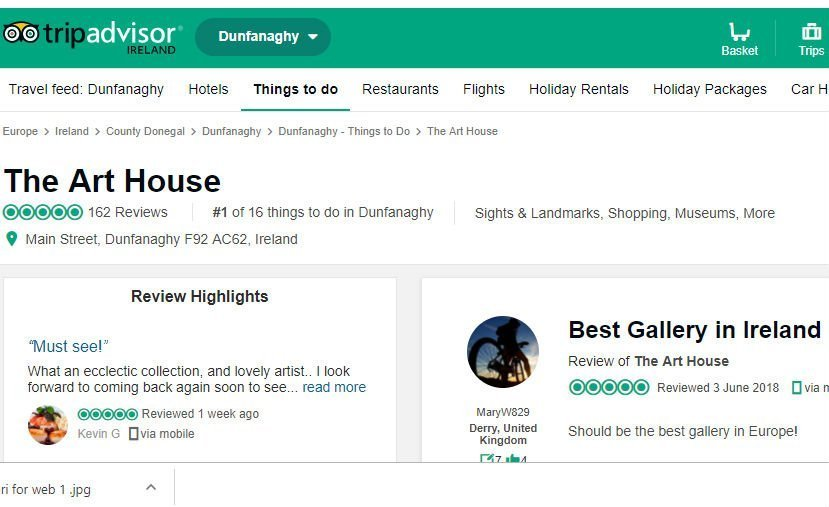Art House Ranks as Top Gallery on Trip Advisor