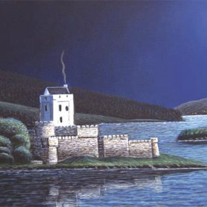 Doe Castle by Moonlight