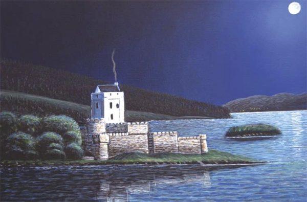 Doe Castle by Moonlight