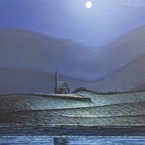 Dunlewey Church by Moonlight