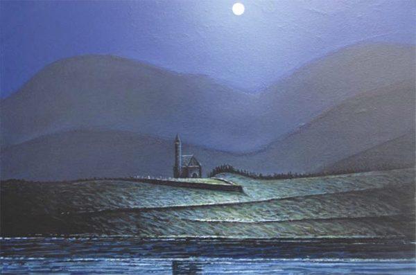 Dunlewey Church by Moonlight